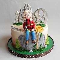 Birthday Mountaineering cake