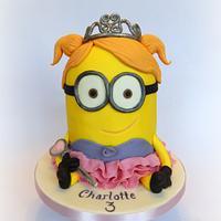Princess Mnion Cake