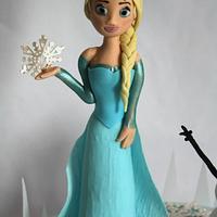 Gumpaste Elsa