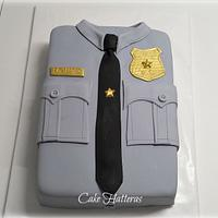 Police Uniform Birthday Cake