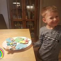 """Sugar art tegen pesten vzw Mathi's hoop - collaboration """"four year old child version"""" by Chantal den Uyl"""