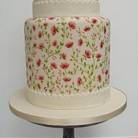 Double Height Painted Cake