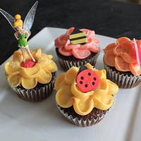Tinkerbell Fairy Garden Cupcakes
