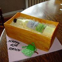 wine bottle by lesley hawkins