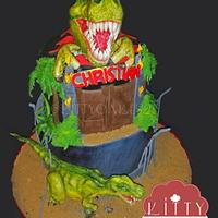 Jurassic Park Trex cake