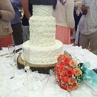 All buttercream wedding cake by Dalgal