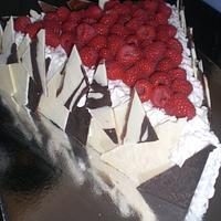 Raspberry Triangle cake