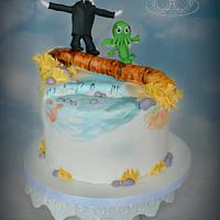 H.P. Lovecraft and Cthulhu Mashup Cake