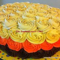 Four tone Rosette  Cake