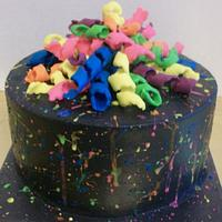 Splatter Paint Cake