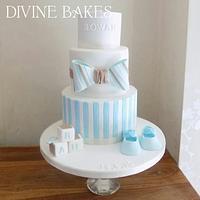 Baby boys Christening cake