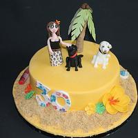 Hawaii themed cake!