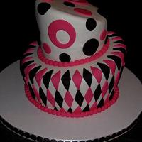 Pink and Black Mad Hatter