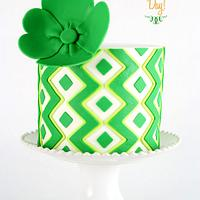 Lime Cake for St. Patrick's Day