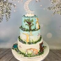 Guess how much I love you , christening cake