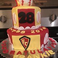 Baseball Graduation Cake