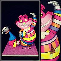 Carved cake cat Britto