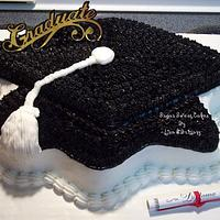 Black & White Graduation Hat