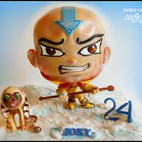 """THE LAST AIRBENDER""   booble head cake"