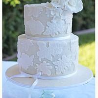 Amelia's Rose & Lace Wedding by Hot Mama's Cakes
