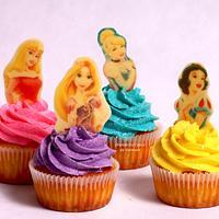 Princess & ice cream cupcakes