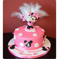 Minnie Mouse with keepsake topper!