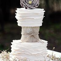3 tier Boho Chic - Wedding Cake