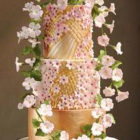 MORNING GLORY WEDDING CAKE