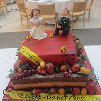 Crime Scene / Naked combined Wedding Cake
