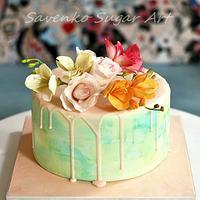 Freesias cake