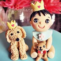 Baby & Puppy Cake