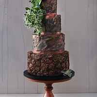 Bronze Bas-relief Wedding Cake
