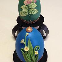 Spring themed Faberge' Eggs