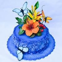 Tropical birthday cake