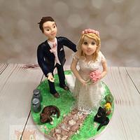 Bride and groom models