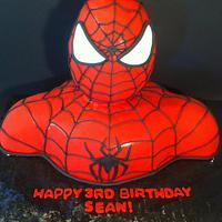 3D Spiderman Bust Cake by Nikki Belleperche