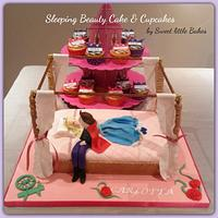 Sleeping Beauty 4 poster bed cake