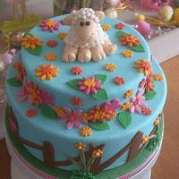 Sheep cake easter by Stertaarten (Star Cakes)