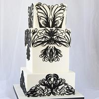 Black and White Cake - Avant Garde Collaboration