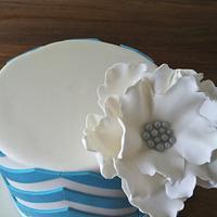 Blue Chevron by Olivia's Bakery