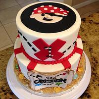 Pirate Theme 1st Birthday Cake