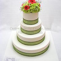 4 tier wedding cake ...