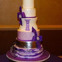 Purple quinceanera cake