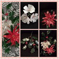 Gelatin Christmas Floral Spray