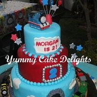 Thomas the Train inspired cake