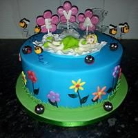 Tinkerbell cake with wings