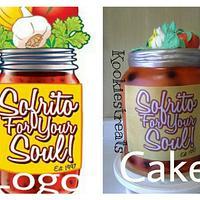 Sofrito For Your Soul Logo Cake