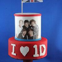 1D cake topper
