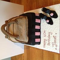 Handbag and shoes cake by Iced Images Cakes (Karen Ker)