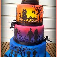 Sunset weddingcake